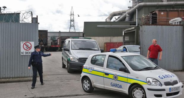 82b8ab2226 Body parts being removed from the scene at the Thorntons Recycling plant on  Kileen Road