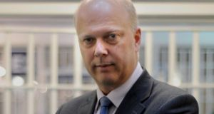 UK justice secretary Chris Grayling. Photograph: Anthony Devlin/PA Wire