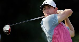 Rory McIlroy: had to undergo a mandatory drugs test following his third round at the WGC-Bridgestone Invitational in Akron.