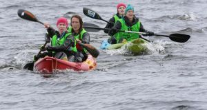 Team Mind for Adventure, from Sweden, kayaking Lough Derg, Co Clare. Photograph: Valerie O'Sullivan