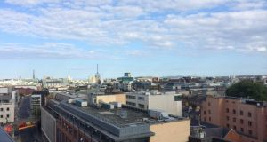 Pleasant weather conditions over Dublin city this evening. The weather is forecast to be changeable for the week.