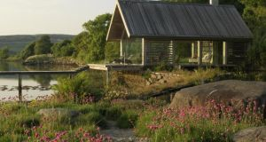 Verney Naylor-designed garden and boathouse at the West Cork home of Lord and Lady Puttnam