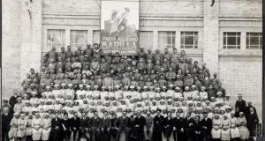 Workers at the Barilla dried pasta factory in Parma in 1921
