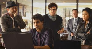 Screen time: Scorpion stars Elyes Gabel (seated) as Walter O'Brien