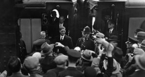 Entangled conections: Éamon de Valera is cheered in London in 1932. Photograph: Keystone/Getty