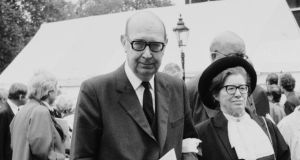 Philip Larkin on reading his poetry to audiences: 'I don't want to go around pretending to be me.' Photograph: Daily Express/Hulton Archive/Getty Images)