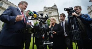 The then minister for health James Reilly speaking to media atfter the Cabinet's decision to approve the publication his tobacco legislation in June. He will retain some responsibility for tobacco control in his new post  Photograph: Alan Betson