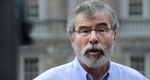 "Sinn Féin leader  Gerry Adams: ""The only suggestion so far by members of this Government has been around inviting British royalty.""  Photograph: Cyril Byrne/The Irish Times"