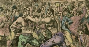 Bout: Irish heavyweight Jack Langan (left) fights English boxer Tom Spring in 1824. Photograph: Print Collector/Getty