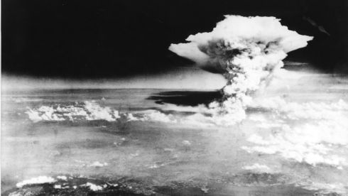 The mushroom cloud over Hiroshima. Photograph: Hiroshima Peace Memorial Museum