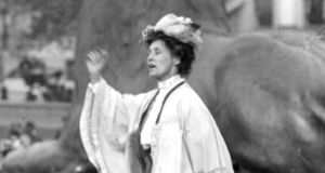 Emmeline Pankhurst: took a prominent role in the 'White Feather' campaign which aimed to shame men into volunteering for the army. Photograph: PA
