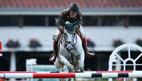 Ireland's Capt Michael Kelly competes on Mo Chroi in the Irish Sports Council Classic. Photograph: Cathal Noonan/Inpho