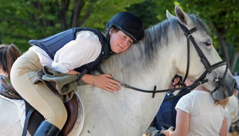 Sophie Mullane takes a breather on Little Dromin Phoenix. Photograph:  Eric Luke/The Irish Times