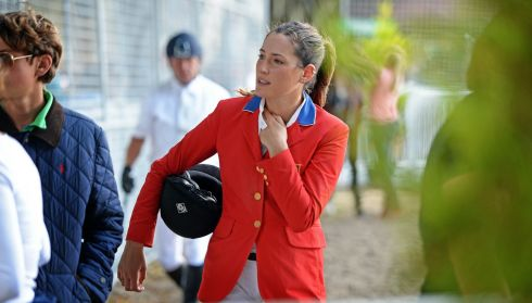 Jessica Springsteen  (US), daughter of singer Bruce Springsteen, in the RDS to compete. Photograph:  Eric Luke/The Irish Times