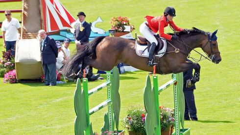 Jessica Springsteen competes on Davendy S in the Speed Stakes No 1 event. Photograph:  Eric Luke/The Irish Times