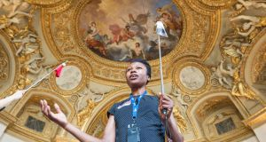 The tour guide, Catherine Ekima. Photograph: Des Harris/The Picture Desk
