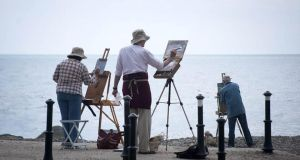 "Fresh air: Artists at the ""paint-outs"" in various locations around Wexford during the Art in the Open festival"