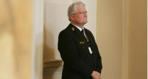 An usher in the entrance lobby of Leinster House:  their  main issues of concern focus on rostering and worries about possible loss of earnings, as well as their  safety