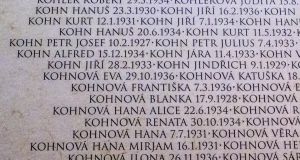 Terezín Ghetto Museum: the dates beside each name indicate that they were children. Photograph: Andrew Kohn