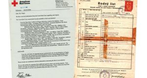 Documentation: the American Red Cross letter that informed Kohn about his relatives who died in the Holocaust; and his Czech birth certificate