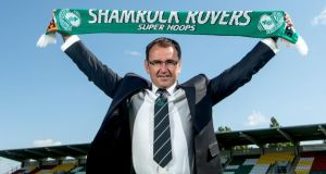 "New manager Pat Fenlon: ""My ambition is to try to build the club here"". Photograph: Inpho"