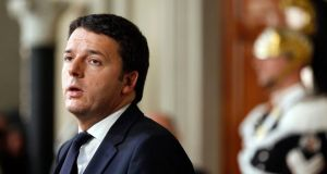Matteo Renzi, Italy's prime minister, speaks during a news conference. Photograph: Alessia Pierdomenico/Bloomberg