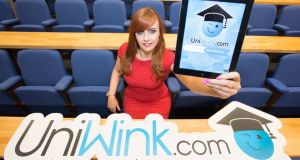 Sarah Dineen at the launch of UniWink. Photograph: Darragh Kane