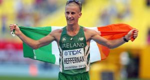 "Rob Heffernan: at age 36, and with 14 years of major championship experience latched on to his slender shoulders, Heffernan knows the exact meaning of the word ""peak"". Photograph: Ian MacNicol/Inpho"