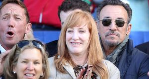 Bruce Springsteen was at the RDS today to watch his daughter Jessica. Phogoraph: Cathal Noonan/Inpho