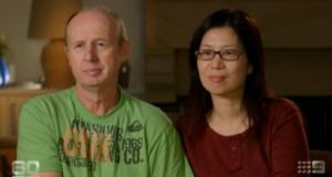 A clip from the 60 Minutes programme on Australia's Nine Network in which David and Wendy Farnell said they wanted both babies but the surrogate mother threatened to involve the police and they feared she would keep both children.