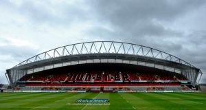 Thomond Park in Limerick: venue for the 2017 Women's  Rugby World Cup final? Photograph: James Crombie/Inpho.