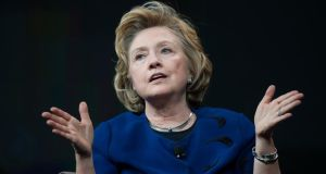 "Potential presidential candidate Hillary Clinton says: ""Great nations need organising principles, and 'Don't do stupid stuff' is not an organising principle."" Photograph: David Paul Morris/Bloomberg"