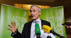Minister for Jobs, Enterprise and Innovation Richard Bruton: having 'great places to live and work' is key to plan to create an extra 7,000 jobs from foreign firms every year up to 2020. Photograph: Alan Betson / The Irish Times