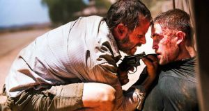 Twilight reeling: Guy Pearce, left, with Robert Pattinson in The Rover