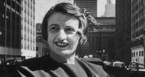 Libertarian author and philosopher Ayn Rand in Manhattan in 1957. Photograph: New York Times/Getty Images