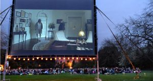A Happenings screening of 'The Big Lebowski' at Fitzwilliam Square in Dublin. Photograph: Dara Mac Dónaill