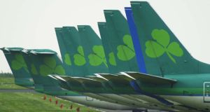 Market boost from Aer Lingus came on the back of an upgrade from Goldman Sachs, with shares in the airline finishing 8 cent stronger at €1.35. Photograph: Frank Miller