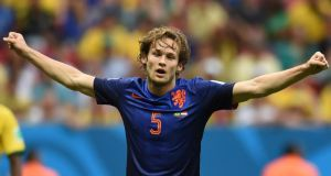 Ajax and Netherlands defender Daley Blind: has kept open the option of a move to Manchester United. Photograph: Getty Images