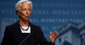 International Monetary Fund managing director Christine Lagarde. The IMF has said Ireland can repay back its loans early without any penalty. Photo: Reuters