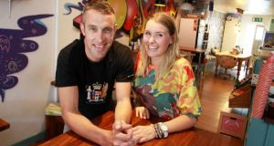 Ross Staunton and Amy Hamilton in Foodgame on South Lotts Road in Dublin. Photograph:   Nick Bradshaw