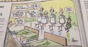 The comic appeared in The West Australian newspaper yesterday. Photograph: Irish People Living In Australia