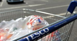 Tesco, the monarch of food retailing, has found discount competitors chopping up its throne to use as kindling. Photograph: Paul Ellis/AFP/Getty Images