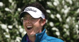 Rory McIlroy:  Vinny's shout of encouragement for the bould Rors seemed a tad half-hearted. Photograph: Matt Kavanagh