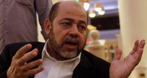 Hamas deputy chief Moussa Abu Marzouk: 'This is the second and last ceasefire. The severity of the moment is clear.' Photograph: Reuters/Asmaa Waguih