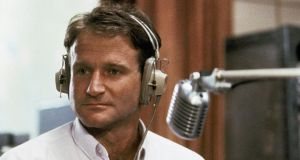 Robin Williams  as disc-jockey Adrian Cronauer in 'Good Morning Vietnam'.  Williams, whose free-form comedy and impressions dazzled audiences for decades, has died in an apparent suicide. Photograph: AP Photo/Touchstone Pictures