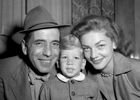 Bogart and Bacall and their young son Stephen in Southampton. Photograph: PA