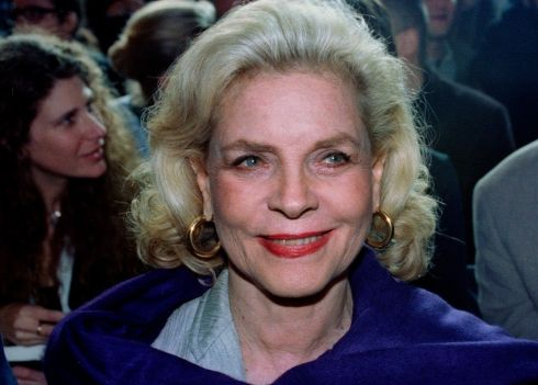Bacall at a fashion show in Paris in 1994. Photograph: Christine Grunnet/Reuters