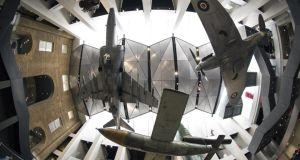 Revamped: looking up in the main atrium at the Imperial War Museum in London. Photograph: Oli Scarff/Getty
