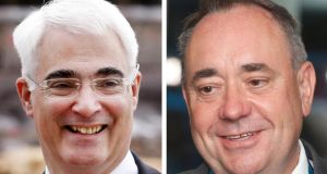 Alistair Darling and Alex Salmond who  could go head-to-head in two further televised referendum debates. Photograph: PA