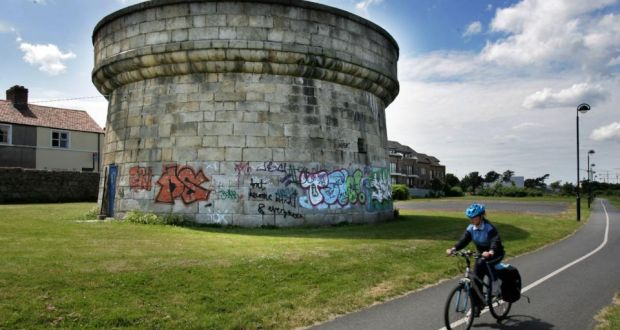 Dún Laoghaire-Rathdown County Council has installed a network of hidden and visible security cameras in an attempt to clampdown on graffiti in the area. Above is a file image of graffiti on a Martello Tower near Blackrock, Co Dublin. Photograph: Frank Miller/The Irish Times